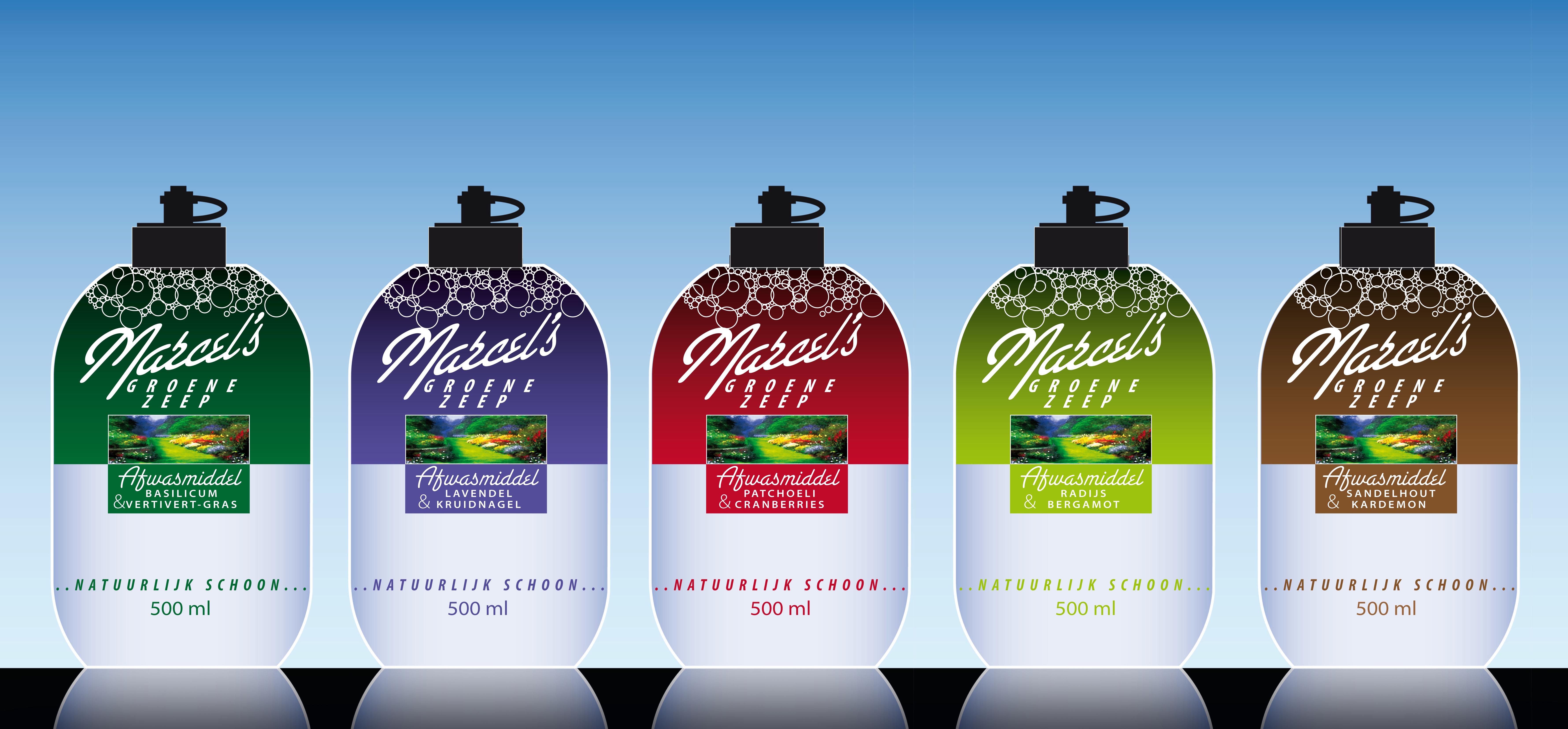 5 varianten Marcel's groene zeep
